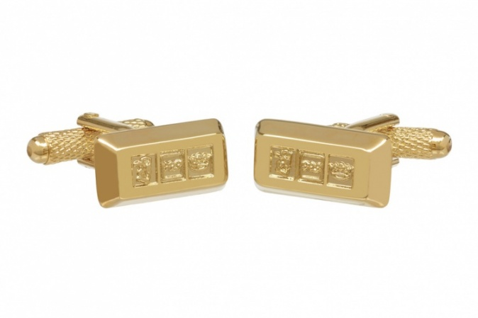 Gold Bar Ingot Cufflinks